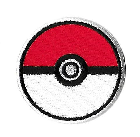 coolpart 7,6cm Pokemon Pokeball Comics TV Film bestickt Emblem Punk Rockabilly Aufnäher Nähen auf/Eisen auf Patch perfekt Patches