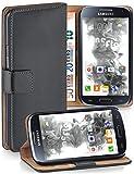 moex Cover a Libretto Compatibile con Samsung Galaxy S4 Mini | Fessura Carta + Soldi, Supporto, Grigio Scuro