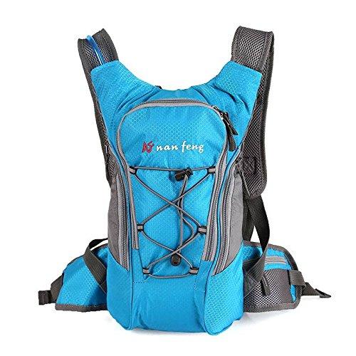 OUTERDO Radfahren Reiserucksack mit wasserdichte Sport Trinkrucksack 10L Mit hoher Kapazität Reise Tasche Blau