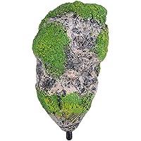 Fdit Ornamento Acuario Flotante de Roca Resina Artificial Ornamento del Acuario Piedras Decoración Adornos Pecera(M)