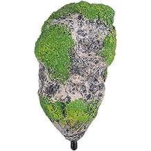 Montaña artificial para decoración de Acuario Fish Tank Roca Flotante Stone de Acuario Suspendido el musgo Piedra Decoración Medio (M)