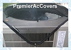 PremierAcCovers - Leaf Guard Summer Open Mesh Air Conditioner Cover - Keeps Out Leaves, Cottonwood and Debris - 40x30 - Black