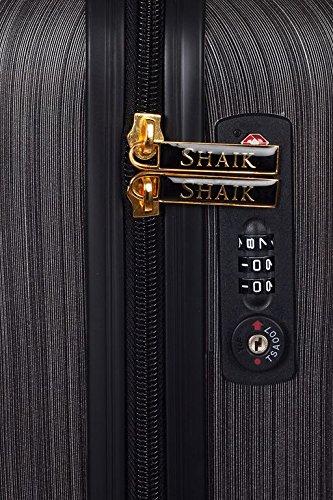 Shaik 7203024 Trolley Koffer, 2er Set (M, L), schwarz - 3