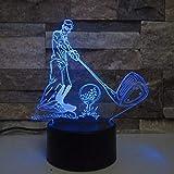 Golf Ball 3D Lampe Remote Touch LED 7 Farbwechsel Sensor Sport 3D Nachtlicht Haus Raumdekoration Schreibtischlampe Beste Kind Geschenk