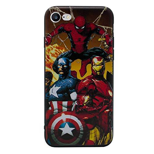 iPhone 5/5s 3D Marvel Silikonhülle / Gel Hülle für Apple iPhone 5s 5 SE / Schirm-Schutz und Tuch / iCHOOSE / Gruppe (Marvel Handy-fall Iphone 5)