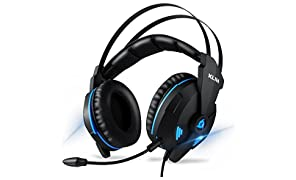 KLIM Impact V2 - Gaming Headset und Mikro (USB) - 7.1 Surround-Sound + Isolation - Hochqualitativer Klang + Klangvolle Bässe - Gaming Headset und Mikro für PC/PS4/Switch Videospiele - Version 2