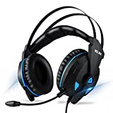 KLIM Impact Gaming Headset - mit Mikrofon (USB) - 7.1 Surround-Sound + Isolation - Hochqualitativer Klang + Klangvolle Bässe - Kopfhörer mit Mikro für Gamer PC Laptop PS4 Videospiele