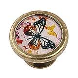 Perilla Tirador Pomo de Puerta Armario Cajón Asa de Tracción - Mariposa #3