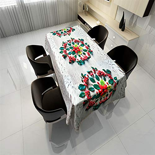 QWEASDZX Tischdecke Einfache Art und Weise Polyestergewebe Staubverschmutzung durch Staub Rechteckige Tischdecke Wiederverwendbar Geeignet für Innen- und Außenbereich Mehrzwecktischdecke 140x180cm (Party-platten Bausteine)