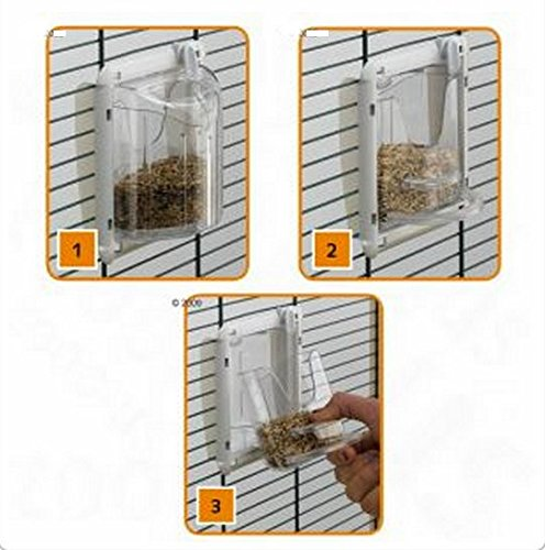 Beautifully Shaped Bird Cage With Basic Accessories For Parakeets, Black Grid - Can Be Partitioned Into Two Areas 2