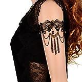 ILOVEDIY Bracelet de Bras Dentelle Noir Gothique Lolita pour Femme...