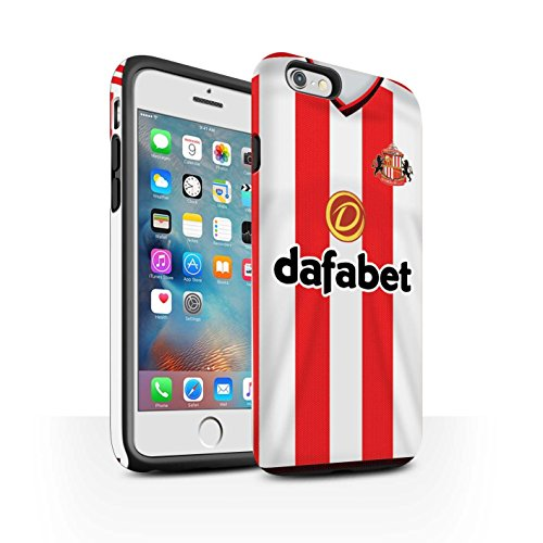 Offiziell Sunderland AFC Hülle / Matte Harten Stoßfest Case für Apple iPhone 6S+/Plus / Pack 24pcs Muster / SAFC Trikot Home 15/16 Kollektion Fußballer