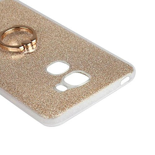 Luxus Bling Sparkle Style Case, Soft TPU [Silikon] Flexible Glitter Rückentasche [Anti Scratch] mit Fingerring Stand für LeTV LE PRO 3 ( Color : Black ) White