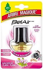 Idea Regalo - Arbre Magique Belair Giugiaro Easy, Deodorante Auto, Fragranza Glam Bouqet, Ricarica per Emanatore, Effetto Lunga Durata, Design Made in Italy