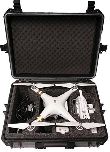 Hartschalen Koffer passend für den DJI Phantom 4 und DJI Phantom 4 Professional sowie Phantom 3 Adv und Pro mit angeschraubten Propellern und viel Zubehör von MC-CASES - 4