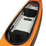 Blueborn KK2 Touren-Kajak 365x77 cm Kanu mit Hochdruck Drop-Stitch Luftkammern und Nylonhülle Kanu für 2 Personen Boot Ruderboot mit 200kg Tragkraft Kajak
