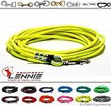 Schleppleine aus 8 mm runder BioThane® / 1-30 Meter [15m] / 13 Farben [Neon-Gelb] / ohne Handschlaufe