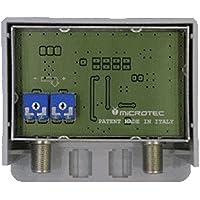 Amplificatore da palo, un ingresso logaritmico (VHF+UHF) con regolazione separata delle bande, guadagno 32 dB, per zone con segnale medio-debole
