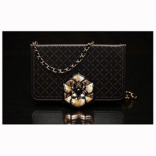 spritech (TM) 3D Elegante Camellia Ausstattung Case Luxus PU Leder Wallet Case Flip Cover Mit Gurt, Style-3, iphone 6s plus
