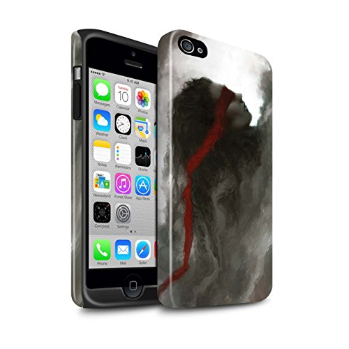 Offiziell Chris Cold Hülle / Glanz Harten Stoßfest Case für Apple iPhone 4/4S / Sonnengott/Reben Muster / Unterwelt Kollektion Rotes Band-Engel