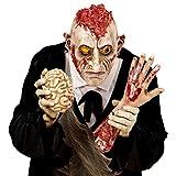 Amakando Psycho Monstermaske Monster Halloweenmaske offenes Gehirn Horror Zombiemaske Halloween Zombie Maske Karneval Kostüm Accessoires Grusel Faschingsmaske Untoter Horrormaske Bestie