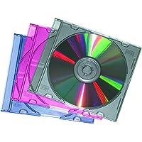 Fellowes 98353 - Caja de almacenamiento para CD/DVD (25 unidades), colores surtidos