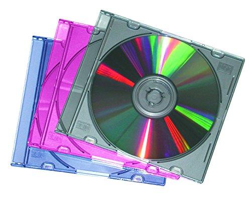 fellowes-slimline-cd-cases-for-1-disc-pack-of-25-assorted-colours-metallic