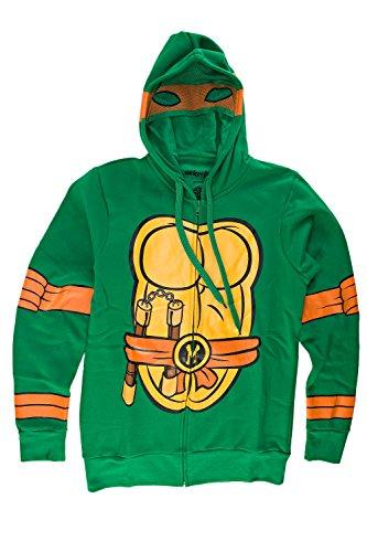 Teenage Mutant Ninja Turtles I Am Michelangelo Herren Zip-Up Kostüm Kapuzenpullover   S