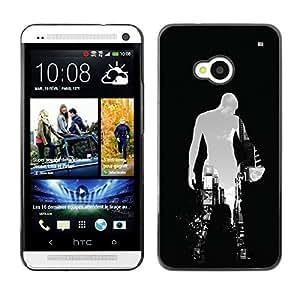 Ihec Tech BASKETBALL VILLE SILHOUETTE / Coque Etui Coque étui de portefeuille protection Coque Case Cas / for HTC One M7