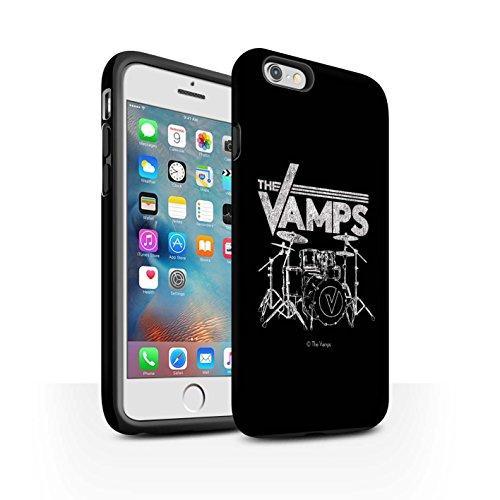 Officiel The Vamps Coque / Matte Robuste Antichoc Etui pour Apple iPhone 6+/Plus 5.5 / Pack 6pcs Design / The Vamps Graffiti Logo Groupe Collection Batterie