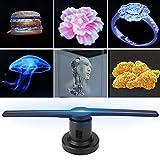 Xinwoer 3D Hologramm Fan Projektor, Holographische Anzeige LED Fan Ausstellung Projektor Hologramm Werbung Displayer + 16G TF Karte für Einkaufszentren, Ausstellungen, Partys, Bars(2)