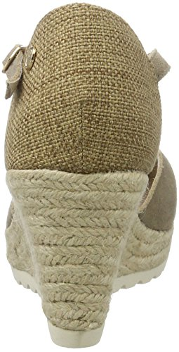 XTI - Taupe Suede Ladies Shoes ., Scarpe con plateau Donna Marrone e (Taupe)