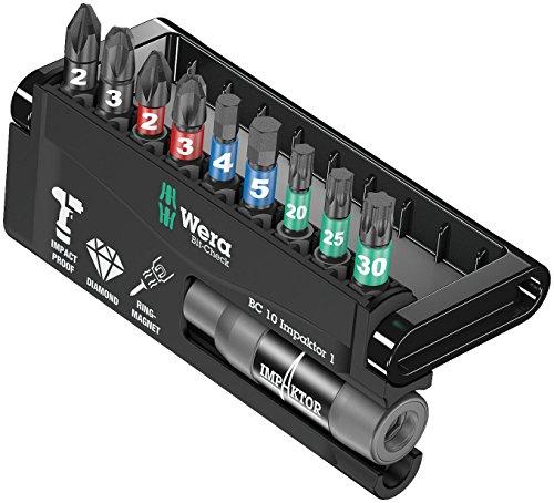 Preisvergleich Produktbild Wera Bit-Sortiment, Bit-Check 10 Impaktor 1 SB, 10-teilig, 05073980001