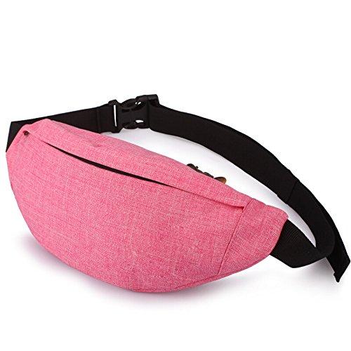 Mefly Sport In Esecuzione Tasche Arrampicata Outdoor Luce Grigia Di Ventilazione Pink