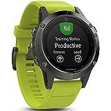 Fēnix 5 Gray avec Bracelet Jaune - Montre GPS Multisports Outdoor