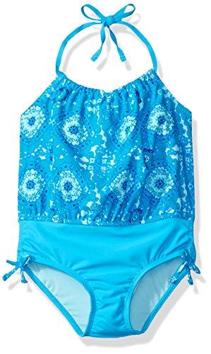 Tommy Bahama Girls' One Piece Halter Tankini Swimsuit (Bahama Tankini)