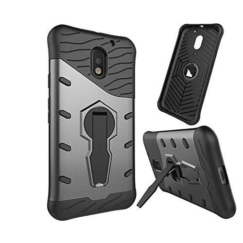 Chevron Motorola Moto E3 Power / Motorola Moto E (3rd gen), Moto E Back Cover - Galaxy Black [Sniper 360° Rotate Stand Version 3.0 Ultimate Warrior Case] [Air Cushion Technology - Shock Proof] [Dual Layer Impact Protection Kick Stand] For Motorola Moto E (3rd gen), Moto E