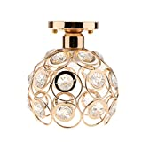 #6: Segolike Elegant Iron Crystal Ceiling Light Cover Chandelier Pendant Lampshade 3 Colors - gold, One Size