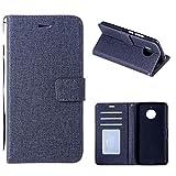 Yoota Cover Moto E4 Plus, Custodia Portafoglio in Pelle PU Leather Cover Flip Stand Fessure di carta Wallet Case per Motorola Moto E4 Plus - Nero