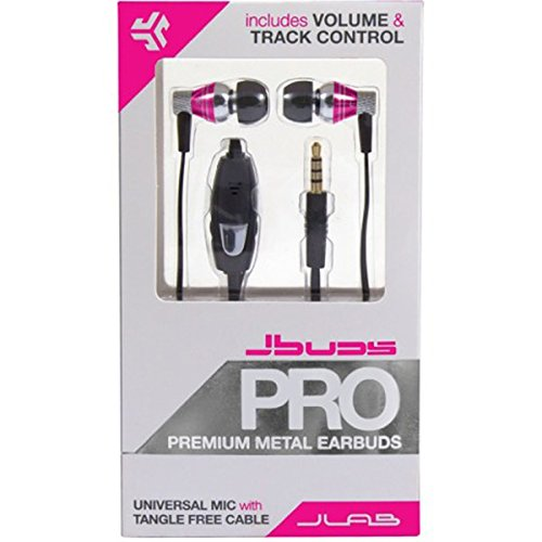 Jlab - Jbuds Pro Premium Metal Earbuds with Mic - Earphones & Headphones (Pink) Best Price and Cheapest