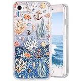 Paillette Coque iPhone 7/ iPhone 8, MeganStore Jolie 3D Flottant Sables Mouvant Étui...