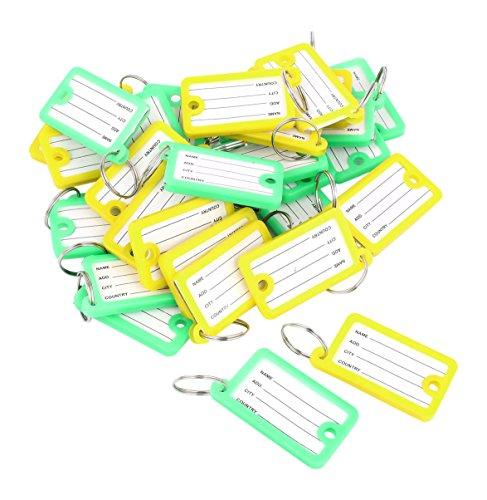 sourcingmap Etichetta per valigie, Multicolore (Multicolore) - (4 Round Etichette)