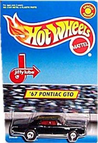 Hot Wheels - Special Edition - Jiffy Lube - '67 Pontiac GTO (Black Body w/Red Line Tires) (Hot Gto Wheels)