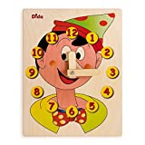 DIDA - Horloge éducative avec Pinocchio - Jouet en Bois pour Apprendre à Lire l'heure