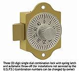 Salsbury Industries 2486Ersatz Zahlenschloss für Daten Distribution Aluminium Box Tür