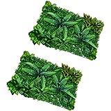 Sharplace Lot de 2pcs Pelouse Gazon Artificiel Tapis Plante Décoration Chambre Balcon - #1