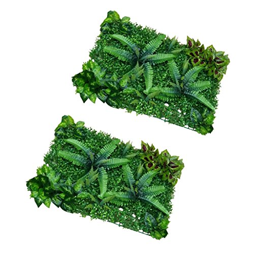 Sharplace Lot de 2pcs Pelouse Gazon Artificiel Tapis Plante Décoration Chambre Balcon - #1