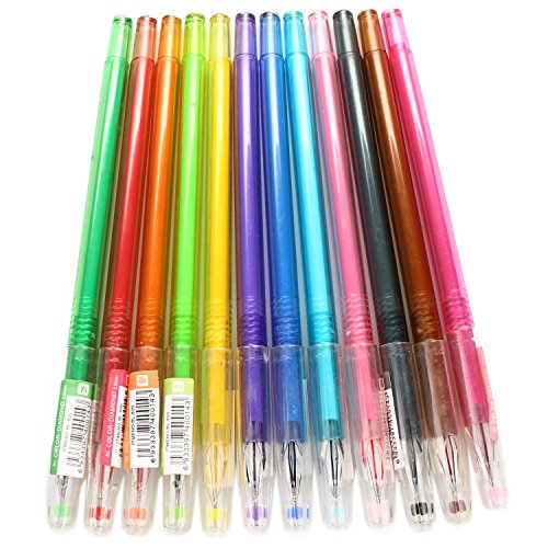 Preisvergleich Produktbild Pinzhi 12st Diamant-Form Kopf Carbon Gel Ink Pen Für Sketching Zeichnen und Schreiben