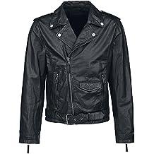 Black Premium by EMP Skull Leather Jacket Cazadora de cuero Negro