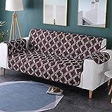Zwei Sitzer - Wasserdicht Gesteppte Sofabezüge - Sessel Möbelschutz Für Hunde Haustiere Kinder Sofabezug,G
